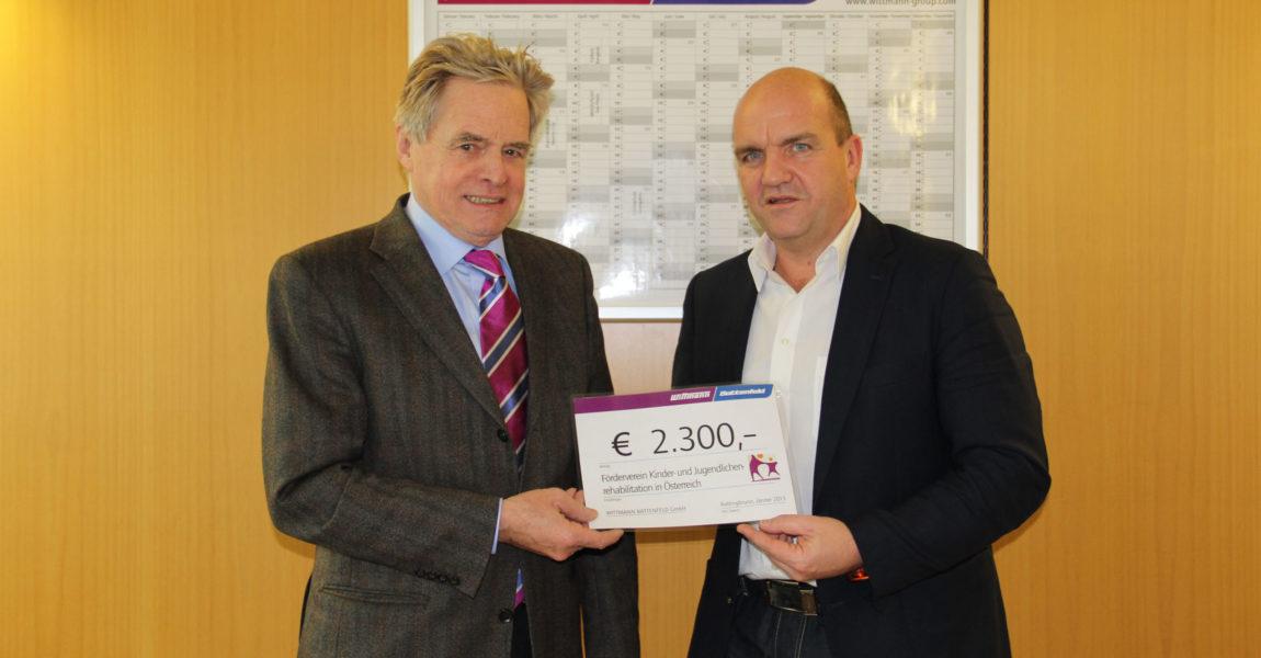 Spendensammlung Weihnachtsfeier Firma Wittmann Battenfeld