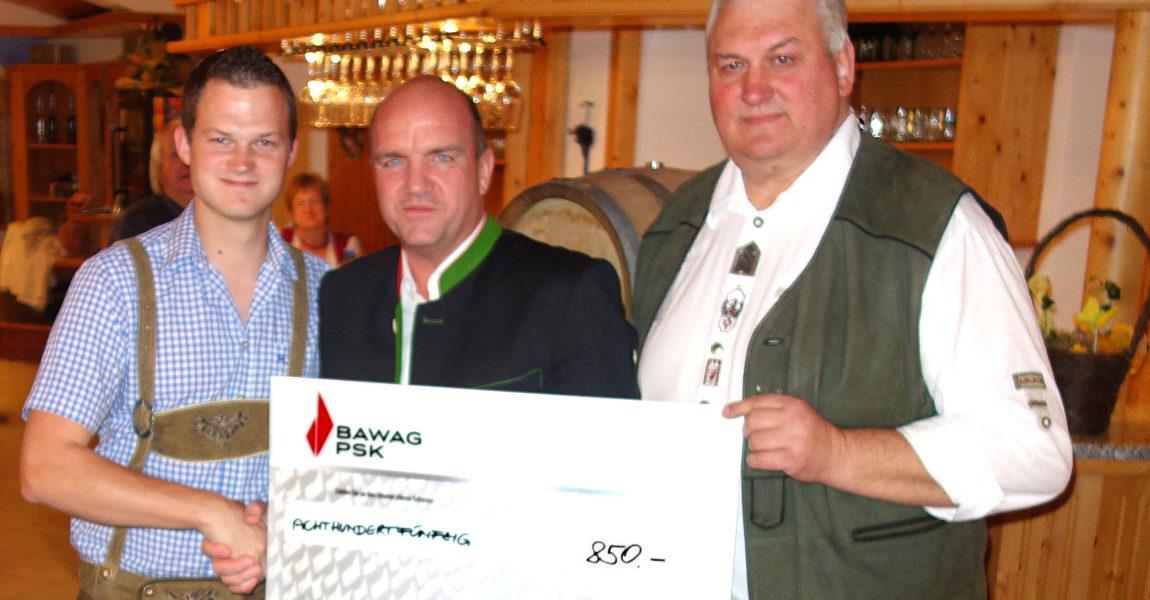 """Weintaufe des """"Adamas 2015"""" und Spendenübergabe der Winzerfamilie Patzl"""