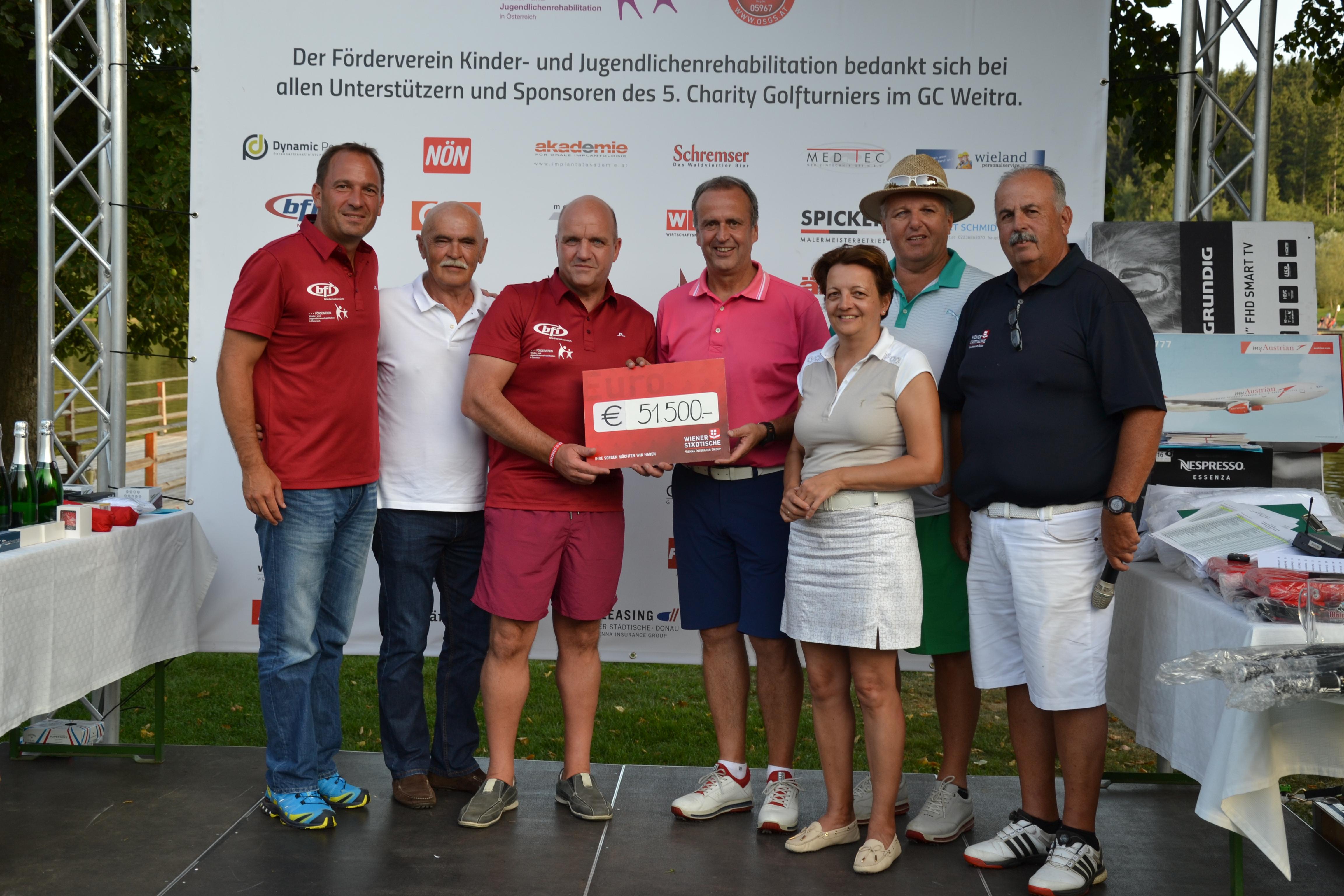 Abschlag für den guten Zweck: 5. Golf-Charity-Turnier in Weitra