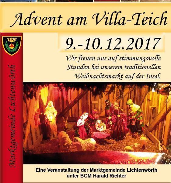 Advent am Villa-Teich