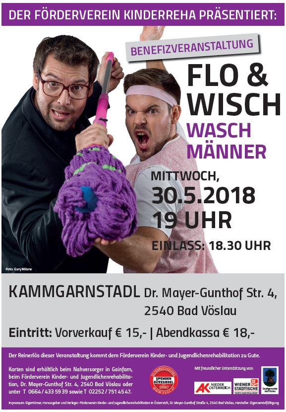 """Benefizveranstaltung FLO & WISCH """"Waschmänner"""""""