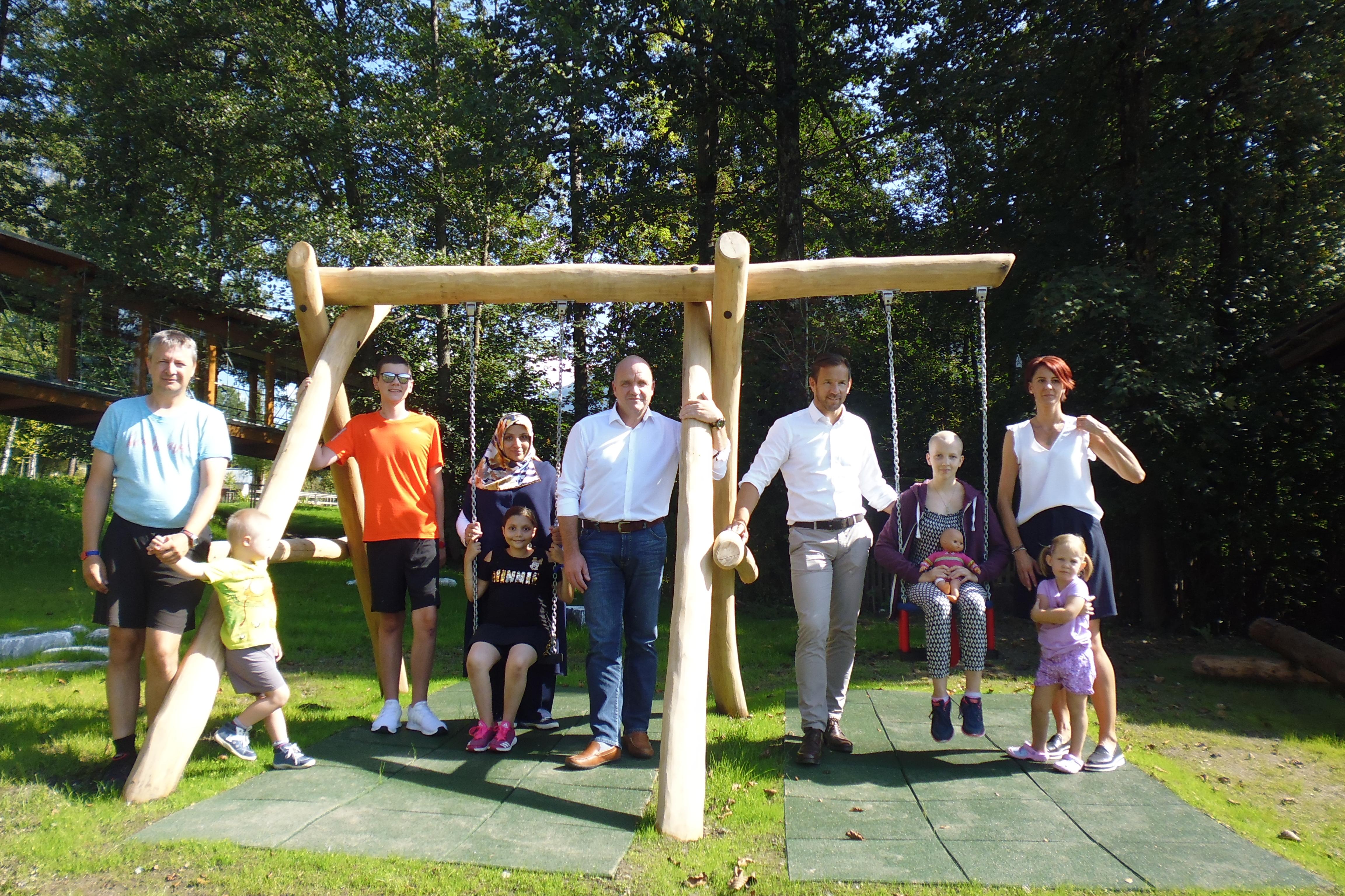 Eröffnung Outdoor-Kinderspielplatz in St. Veit/Pongau