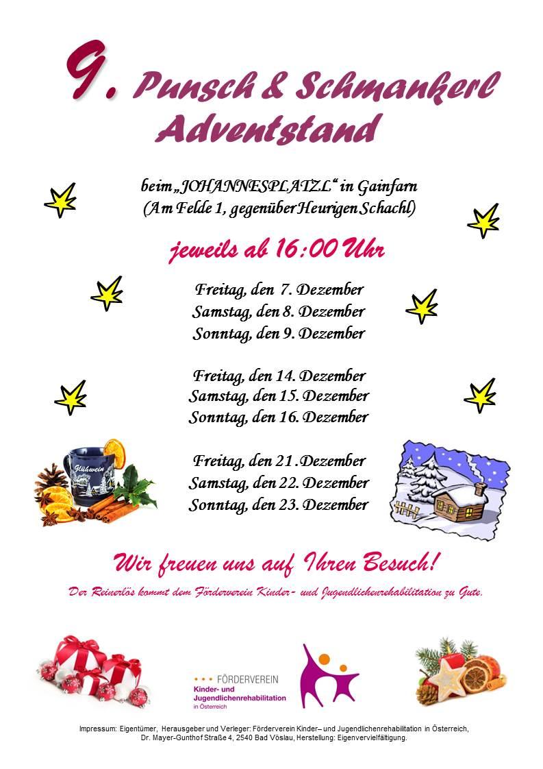 9. Punsch- & Schmankerl Adventstand